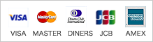 �����Ѳ�ǽ���쥸�åȥ�����:VISA/MASTER/DINERS/JCB/AMEX
